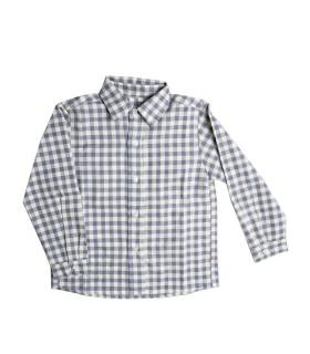 Camisa Menino Xadrez Azul Claro