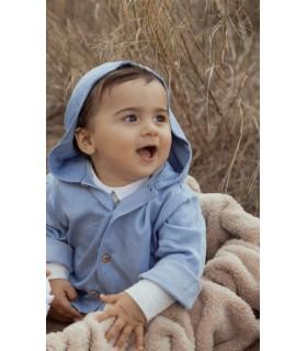 Túnica de Ganga com capuz bebé/menino/menina